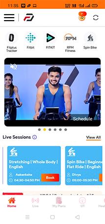 OneFitPlus App Home Screen