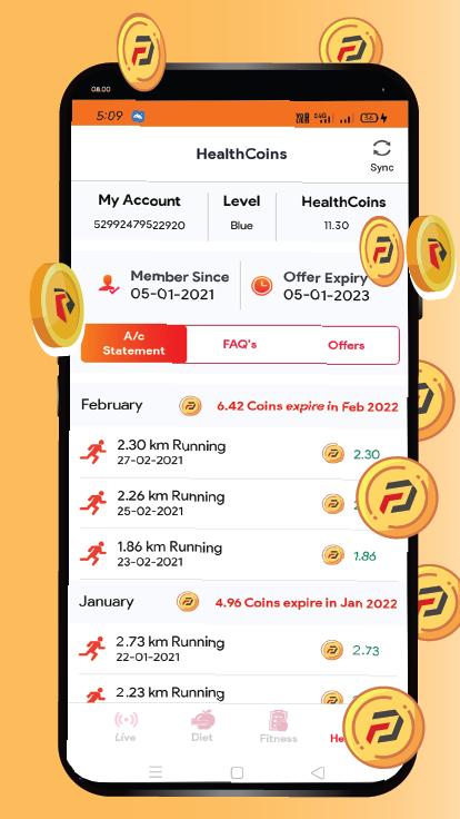 Earn Healthcoins While you Exercise